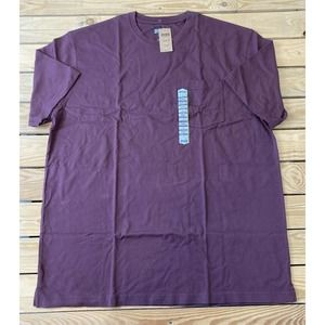 NWT DULUTH Men's Burgundy Short Sleeve T Shirt XL